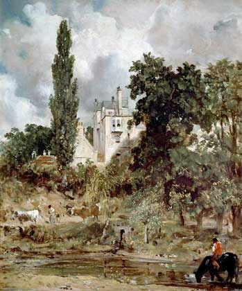 John Constable.  Admiral House in Hampstead