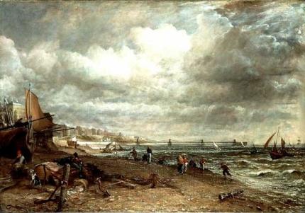 John Constable.  Brighton Pier