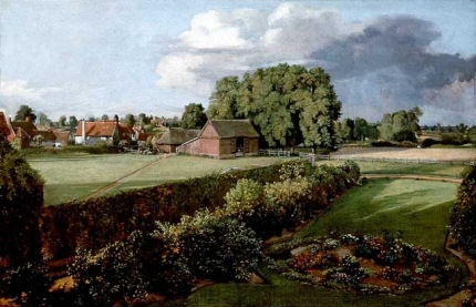John Constable.  GARDEN IN Golding